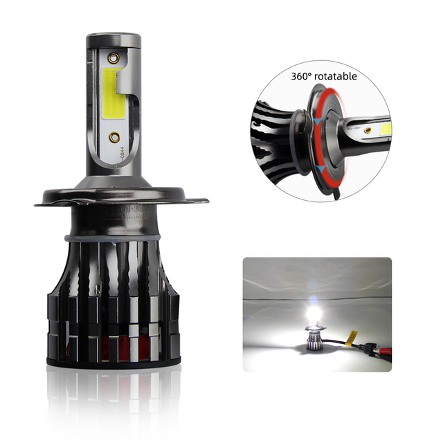 All metal buckle High Speed Fan Cooling led headlight bulb JG-K7.