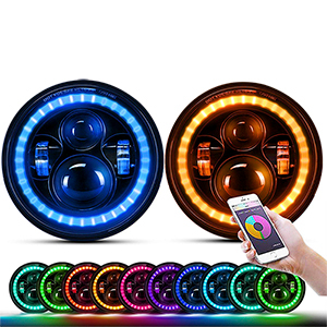 7 inch RGB Halo Headlights (Rolling Water Effect)JG-J003P